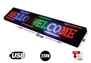 letrero programable  40 x 165 cm rgb o multicolor/gran avda. 8051