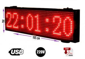 letrero programable 165 cm x 20 color rojo/gran avda. 8051