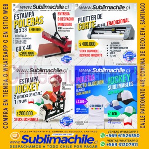 artículos y máquinas para sublimar y estampar