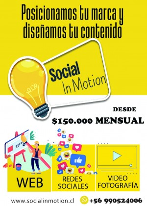 Social in motion Anuncios gratis en Providencia |  Gestion en redes sociales / paginas web, Redes sociales / paginas web/ marketing digital